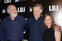 "LOS ANGELES - OCT 24:  Rob Reiner, Bill Pullman, Jennifer Jason Leigh at the ""LBJ"" World Premiere at the ArcLight Theater on October 24, 2017 in Los Angeles, CA"