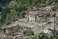 Earthquake -  Terremoto in Pescara del Tronto (AP) on August 24, 2016, in Marche, Italy. Photo by Adamo Di Loreto