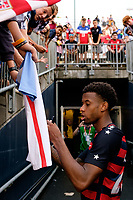East Hartford, CT - Saturday July 01, 2017: Kellyn Acosta during an international friendly match between the men's national teams of the United States (USA) and Ghana (GHA) at Pratt & Whitney Stadium at Rentschler Field.