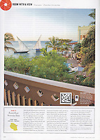 Cond&eacute; Nast Traveler (U.S. edition), August 2010, &quot;Room with a View&quot; feature.<br />