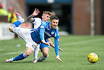 Kilmarnock v St Johnstone...19.09.15  SPFL Rugby Park, Kilmarnock<br /> Michael O'Halloranis fouled by Craig Slater<br /> Picture by Graeme Hart.<br /> Copyright Perthshire Picture Agency<br /> Tel: 01738 623350  Mobile: 07990 594431