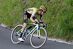 George Bennett (NZL) Team Jumbo-Visma near the end of Stage 5 of the Tour of the Basque Country 2019 running 149.8km from Arrigorriaga to Arrate, Spain. 12th April 2019.<br /> Picture: Colin Flockton | Cyclefile<br /> <br /> <br /> All photos usage must carry mandatory copyright credit (© Cyclefile | Colin Flockton)