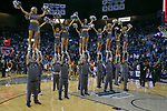 Nevada  cheerleaders perform during the second half of a basketball game played at Lawlor Events Center in Reno, Nev., Saturday, Feb. 29, 2020. (AP Photo/Tom R. Smedes)