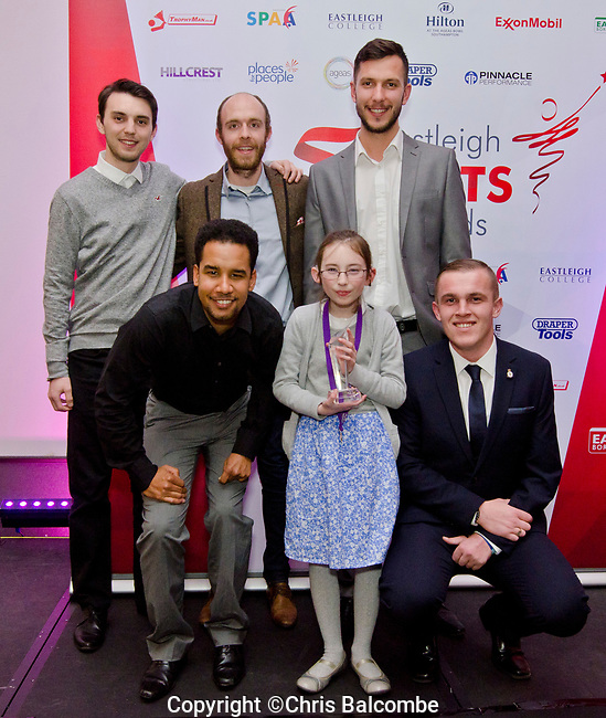 The Eastleigh Sports Awards for 2017, presented on Feb 8th 2018, at the 'Hilton at The Ageas Bowl'.<br />