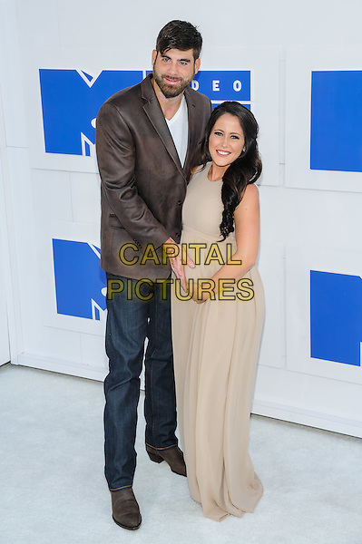 28 August 2016 - New York, New York - David Eason, Jenelle Evans.  2016 MTV Video Music Awards at Madison Square Garden. <br /> CAP/ADM/MSA<br /> &copy;MSA/ADM/Capital Pictures