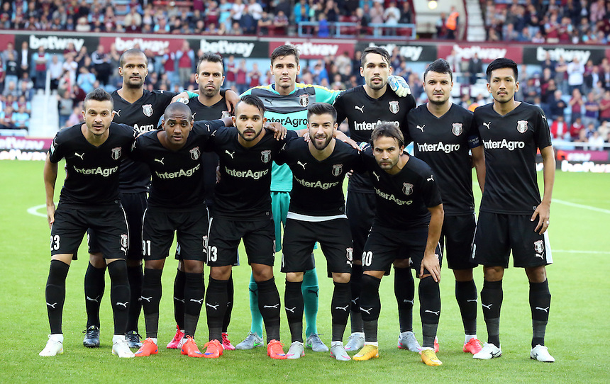 FC Astra Giurgiu Team photo<br /> <br /> Photographer Kieran Galvin/CameraSport<br /> <br /> Football - UEFA Europa League Qualifying Third Round First Leg - West Ham United v Astra Giurgiu - Thursday 30 July 2015 - Boleyn Ground - London<br /> <br /> &copy; CameraSport - 43 Linden Ave. Countesthorpe. Leicester. England. LE8 5PG - Tel: +44 (0) 116 277 4147 - admin@camerasport.com - www.camerasport.com