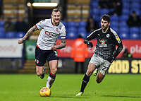 Bolton Wanderers' David Wheater competing with Reading's Nelson Oliveira  <br /> <br /> Photographer Andrew Kearns/CameraSport<br /> <br /> The EFL Sky Bet Championship - Bolton Wanderers v Reading - Tuesday 29th January 2019 - University of Bolton Stadium - Bolton<br /> <br /> World Copyright © 2019 CameraSport. All rights reserved. 43 Linden Ave. Countesthorpe. Leicester. England. LE8 5PG - Tel: +44 (0) 116 277 4147 - admin@camerasport.com - www.camerasport.com