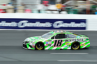 July 15, 2017 - Loudon, New Hampshire, U.S. - Kyle Busch, Monster Energy NASCAR Cup Series driver of the Interstate Batteries Toyota (18), runs in the NASCAR Monster Energy Overton's 301 final practice round held at the New Hampshire Motor Speedway in Loudon, New Hampshire. Larson placed first in the qualifier. Eric Canha/CSM