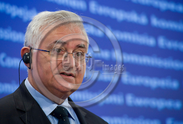 Brussels-Belgium - March 02, 2010 -- John DALLI, European Commissioner from Malta and in charge of.Health and Consumer Policy, during a press conference in the HQ of the EC -- Photo: Horst Wagner / eup-images