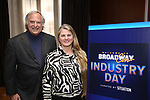 BroadwayHD's Stewart Lane and Bonnie Comley attend Industry Day during Broadwaycon at New York Hilton Midtown on January 11, 2019 in New York City.
