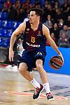 Turkish Airlines Euroleague 2017/2018.<br /> Regular Season - Round 8.<br /> FC Barcelona Lassa vs Valencia Basket: 89-71.<br /> Thomas Heurtel.