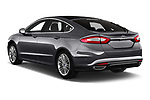 Car pictures of rear three quarter view of 2019 Ford Mondeo Vignale 4 Door Sedan Angular Rear