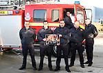 Firemen promote calendar