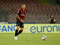 Alessio Romagnoli  during the  italian serie a soccer match,  SSC Napoli - Milan      at  the San  Paolo   stadium in Naples  Italy , August 25, 2018