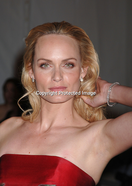 Amber Valletta ..arriving to the Costume Institute Gala celebrating AngloMania on May 1, 2006 at The Metropolitan Museum of ..Art. ..Robin Platzer, Twin Images..
