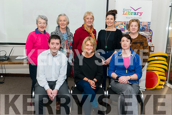 Early Childhood Education talks with Dr Mary O'Keane in the Killarney Library last Friday. Pictured are front l-r Eamon Browne (Killarney Library), Dr Mary O'Keane (Speaker) and Hazel Joy (Killarney Library), back l-r Breda Sparling from Killarney, Margaret Roche from Killarney Joan Casey from Kilcummin, Niamh Cusack from Killarney and Sheila Rice from Killarney.