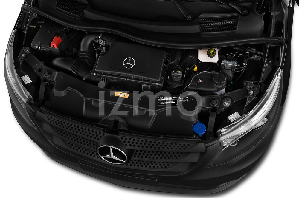 Car stock 2018 Mercedes Benz Vito Mixto Perfect Tool 4 Door Combi engine high angle detail view