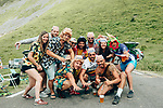 Crazy fans wait for the race on Col du Tourmalet during Stage 14 of the 2019 Tour de France running 117.5km from Tarbes to Tourmalet Bareges, France. 20th July 2019.<br /> Picture: ASO/Thomas Maheux | Cyclefile<br /> All photos usage must carry mandatory copyright credit (© Cyclefile | ASO/Thomas Maheux)