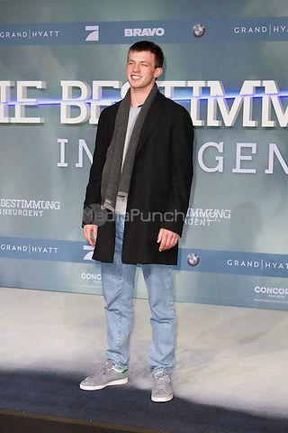 Jannis Niewoehner attending the Insurgent premiere, held at CineStar, Sony Center, Berlin, Germany, 13.03.2015. <br /> Photo by Christopher Tamcke/insight media /MediaPunch ***FOR USA ONLY***