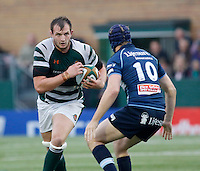 Ealing's Harris Casson in action during the Greene King IPA Championship match between Ealing Trailfinders and Bedford Blues at Castle Bar , West Ealing , England  on 29 October 2016. Photo by Carlton Myrie / PRiME Media