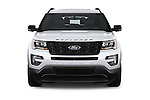 Car photography straight front view of a 2016 Ford Explorer Sport 5 Door Suv Front View
