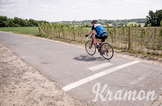 the Strava (segment) finish line up the infamous Koppenberg in Oudenaarde<br /> <br /> cycling hotspots & impressions in the Vlaamse Ardennen (Flemish Ardennes) along the 181km Spartacus (Chasing Cancellara) cycling route<br /> <br /> Cycling In Flanders <br /> Flanders Tourist Board<br /> <br /> ©kramon