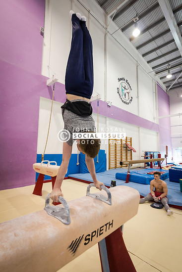 Gymnastics at Basildon Sporting Village, Essex UK. Home to the South Essex Gymnastics Club & Olympic champion Max Whitlock