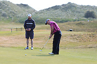 Paul O'Hanlon (Carton House) on the 15th green during Round 3 of the East of Ireland Amateur Open Championship sponsored by City North Hotel at Co. Louth Golf club in Baltray on Monday 6th June 2016.<br /> Photo by: Golffile   Thos Caffrey