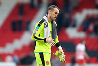 Alex Cairns of Fleetwood Town disappointed after the lose to Doncaster Rovers after the Sky Bet League 1 match between Doncaster Rovers and Fleetwood Town at the Keepmoat Stadium, Doncaster, England on 17 February 2018. Photo by Leila Coker / PRiME Media Images.