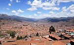 View of the city of Cusco in Peru.