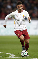 Calcio, Serie A: Milano, stadio Giuseppe Meazza (San Siro), 1 ottobre 2017.<br /> Roma's Lorenzo Pellegrini in action during the Italian Serie A football match between Milan and AS Roma at Milan's Giuseppe Meazza (San Siro) stadium, October 1, 2017.<br /> UPDATE IMAGES PRESS/IsabellaBonotto