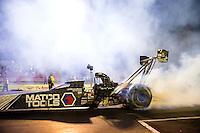 May 15, 2015; Commerce, GA, USA; NHRA top fuel driver Antron Brown during qualifying for the Southern Nationals at Atlanta Dragway. Mandatory Credit: Mark J. Rebilas-USA TODAY Sports