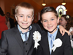 Lucas carton and Adam Smith who received their first holy communion at St Joseph's Church Mell. Photo:Colin Bell/pressphotos.ie