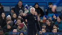 Alan Pardew Manager of WBA during the Premier League match between Chelsea and West Bromwich Albion at Stamford Bridge, London, England on 12 February 2018. Photo by Andy Rowland.