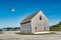 Boat house, Chatham Harbor, Cape Cod, Massachusetts, USA