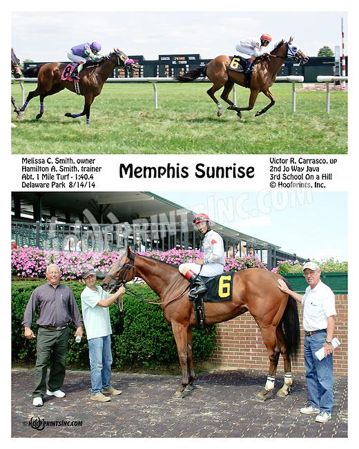 Memphis Sunrise winning at Delaware Park on 8/14/14