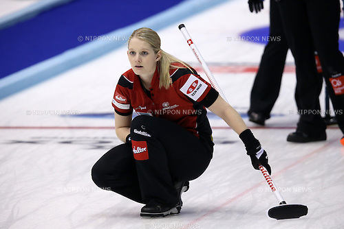 Winkelhausen Marisa (SUI),<br /> MARCH 19, 2015 - Curling : World Women's Curling Championship 2015 Round Robin match between Switzerland and Scotland at Tsukisamu Gymnasium in Sapporo, Hokkaido, Japan. (Photo by Jun Tsukida/AFLO SPORT)