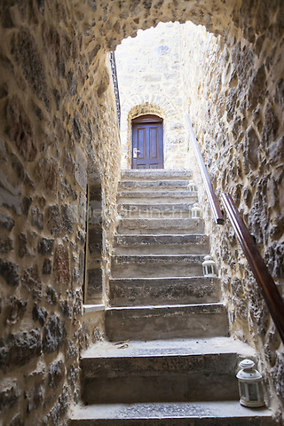 Steps, walls and arch leading to the door of a house in the village of Mesta, Chios, Greece<br /> CAP/MEL<br /> &copy;MEL/Capital Pictures /MediaPunch ***NORTH AND SOUTH AMERICA ONLY***