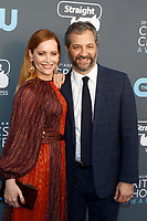 Leslie Mann and director Judd Apatow attend the 23rd Annual Critics' Choice Awards at Barker Hangar in Santa Monica, Los Angeles, USA, on 11 January 2018. Photo: Hubert Boesl - NO WIRE SERVICE - Photo: Hubert Boesl/dpa /MediaPunch ***FOR USA ONLY***