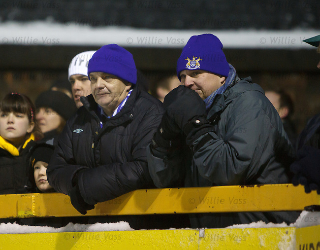 Two Peterhead fans contemplating their long journey back home