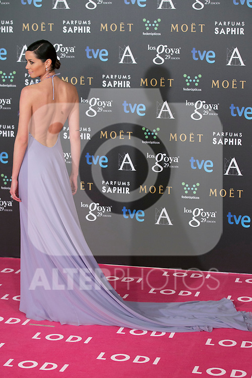 Dafne Fernandez attend the 2015 Goya Awards at Auditorium Hotel, Madrid,  Spain. February 07, 2015.(ALTERPHOTOS/)Carlos Dafonte)