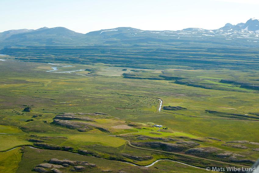 Kóreksstaðir séð til austurs, Fljótsdalshérað áður Hjaltastaðahreppur /  Koreksstadir viewing east, Fljotsdalsherad former Hjaltastadahreppur.