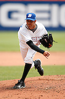 May 28, 2009:  Pitcher Nelson Figueroa of the Buffalo Bisons delivers a pitch during a game at Coca-Cola Field in Buffalo, NY.  The Bisons are the International League Triple-A affiliate of the New York Mets.  Photo by:  Mike Janes/Four Seam Images