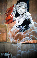 "25.01.2016 - Banksy ""Les Misérables"" - Artwork Outside The French Embassy in London"