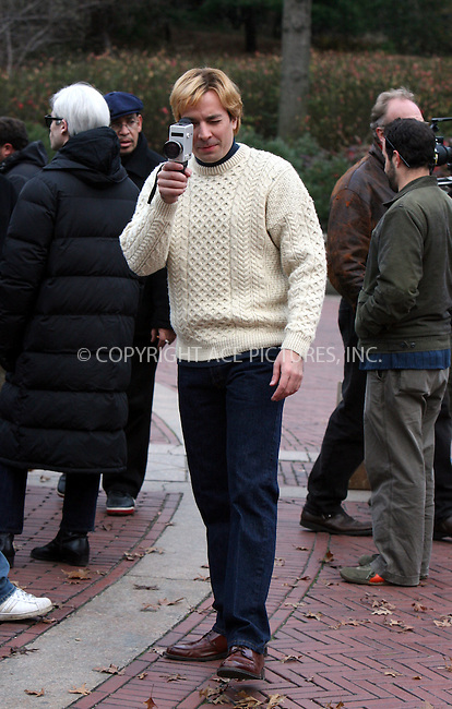 WWW.ACEPIXS.COM . . . .....November 20 2006, New York City....Actor Jimmy Fallon clowns around with paparazzi on the set of 'Factory Girl' in Central Park.....Please byline: PHILIP VAUGHAN - ACEPIXS.COM.. *** ***  ..Ace Pictures, Inc:  ..(212) 243-8787 or 646 769 0430..e-mail: info@acepixs.com..web: http://www.acepixs.com