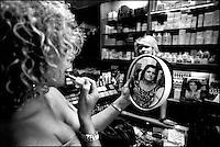 in profumeria. perfume shop.