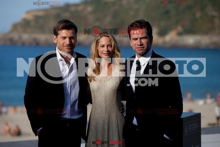 Actors Nikolaj Coster-Waldau, Maria Bonnevie, Nikolaj Lie Kaas present the film 'A Second Chance' during the 62st San Sebastian Film Festival in San Sebastian, Spain. September 21, 2014. (ALTERPHOTOS/Caro Marin)