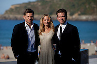 Actors Nikolaj Coster-Waldau, Maria Bonnevie, Nikolaj Lie Kaas present the film 'A Second Chance' during the 62st San Sebastian Film Festival in San Sebastian, Spain. September 21, 2014. (ALTERPHOTOS/Caro Marin)