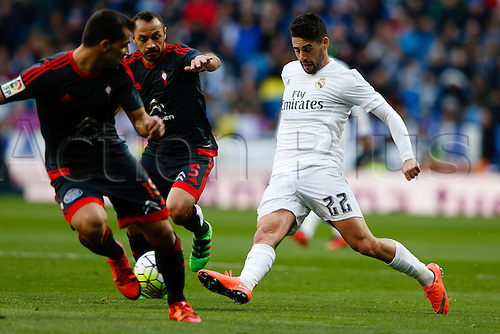 05.03.2016.  Madrid, Spain.  Francisco Roman Alarcon (22) Real Madrid. La Liga between Real Madrid versus Celta de Vigo at the Santiago Bernabeu stadium in Madrid, Spain