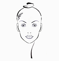 Sketch of beautiful woman's face